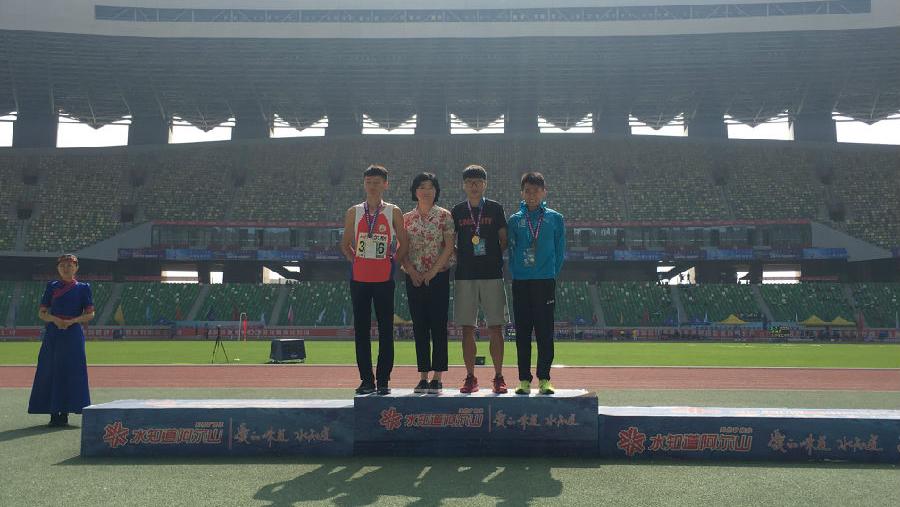 我校在第十七届全国大学生田径锦标赛上获得两枚金牌